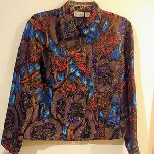 Vintage Chico's Metallic Women's Jacket size 1 (M)